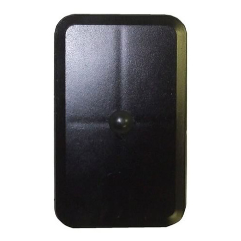 "3.5/""x5.5/"" Flat Rectangular Grey Steel Hand Hole Cover"