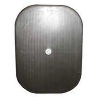 4.75in x 6.75in Rectangle Light Pole Hand Hole Cover with Bracket