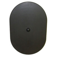 5.125in x 7.75in Oval Light Pole Hand Hole Cover with Bracket
