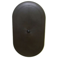 4.75in x 9in Oval Light Pole Hand Hole Cover with Bracket