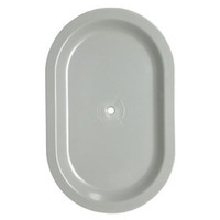 4.75in x 7.5in Oval Inset Light Pole Hand Hole Cover with Bracket