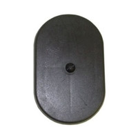 3in x 5in Oval Light Pole Hand Hole Cover with Bracket