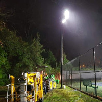LED high-output sports lighters installed at the tennis court in Texas.