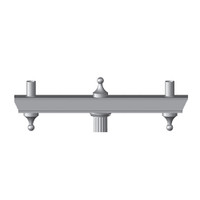 Aluminum Decorative Woodbridge Light Pole Bracket