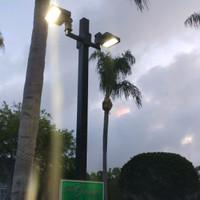 Square straight steel light poles for HOA