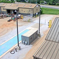 Security Camera Light Pole Application for SA Recycling Facility in Alabama