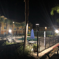 #9534: Aluminum Light Poles For Upscale Condo Poolside