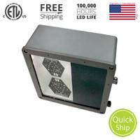 "*OVERSTOCK* - 120w LED, 12"" Shoebox Light Fixture, Type V Distribution, 5000K Color Temp. Dark Bronze Finish (No Mount)"