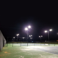 1000w HID to 300w LED light fixtures for tennis court project