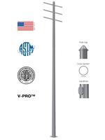 Round Tapered Steel High Mast Sports Pole