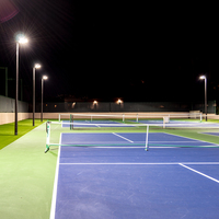 Pickleball Lighting Kit In Use