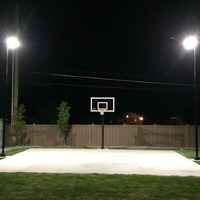 Half Court Basketball Lighting Kit In Use