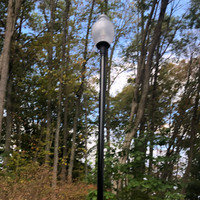 Decorative LED post top and light pole for backyard lighting application