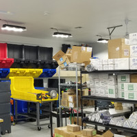 LED Ecobay light fixtures providing a safe work environment and enhanced productivity levels