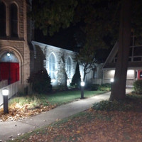 LED Bollard light fixtures installed for St. Peter's Episcopal Church