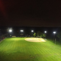 440w Sports light fixtures with glare shields for Kilroy baseball field lighting project
