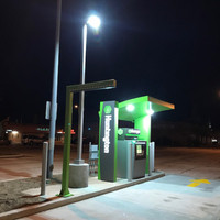 LED lighting and aluminum light pole for drive-through ATM