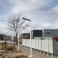 Steel light poles for walkway application for Fort Collins Community Association