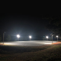 LED Lighting with existing wooden light poles for equestrian arena project