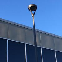 LED Post top lights for Stockton University