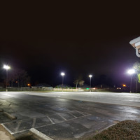 30' square straight steel light poles for parking lot application