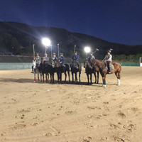 First night under the new LED lighting system at Santa Barbara Polo Club
