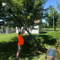 Installation of the decorative LED lighting for backyard project