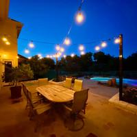 LPP light poles for backyard string lighting application