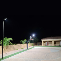 Shoebox light fixtures and light poles for backyard sport project