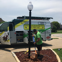 Installation of new decorative LED Lighting and light pole for home owner in Texas