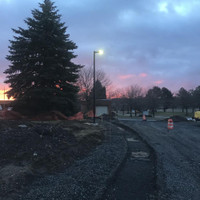 #12841:  20' Square Straight Steel Light Poles for Walkway in Utica, NY