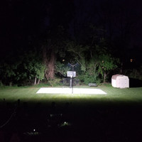 Backyard LED replacement sports lighting project