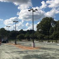 energy efficient sports lighting for Querbes Tennis Center