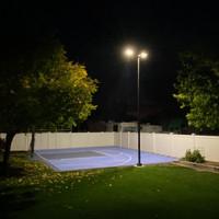 Backyard sports court led lighting project