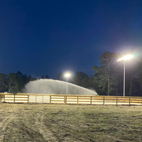 440w Sports Lighter LED fixtures now light Melemed Farms' new riding arena.