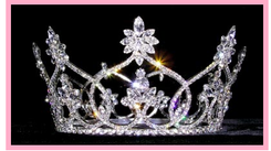 """3 5/8"""" Crystal Quinceanera Crown  QT-13373"""