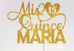 Quinceanera Cake Topper, many colors