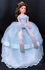 Light Blue Quinceanera Doll, available in any color