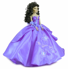 "Butterfly design Quinceanera Doll, 22""  Tall many colors available"