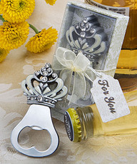 Crown design bottle opener favors (as low as $ 2.49 )