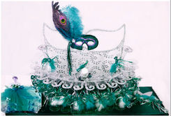 Peacock Mask Toasting Glasses Set, available in many colors