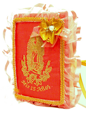Virgen of Guadalupe Quinceanera Bible AK-224B