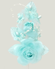 "6"" Corsage Silk Rose Flowers with Pearl Spray, Pack of 12 many colors"