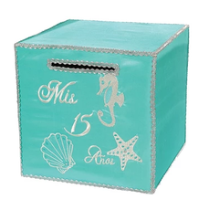 Quinceanera Square Gift Money Box, many colors and designs