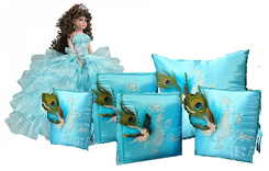Peacock Quinceanera Set, 6 items many colors available