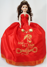 Western Quinceanera Doll, available in any colors