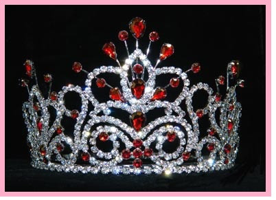 Red Quinceanera Crown Tiaras Quinceanera Style