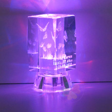 "2.5"" Lighted Crystal Quinceanera Butterflies Design Favor, personalized"