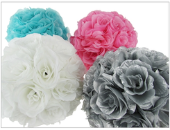 "10"" Flower Ball, available in in many colors"