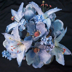 "16"" Latex Magnolia Bouquet, available in many colors"